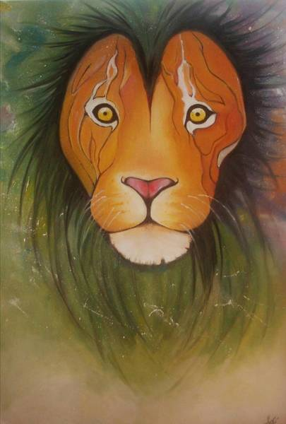 Animals Wall Art - Painting - Lovelylion by Anne Sue