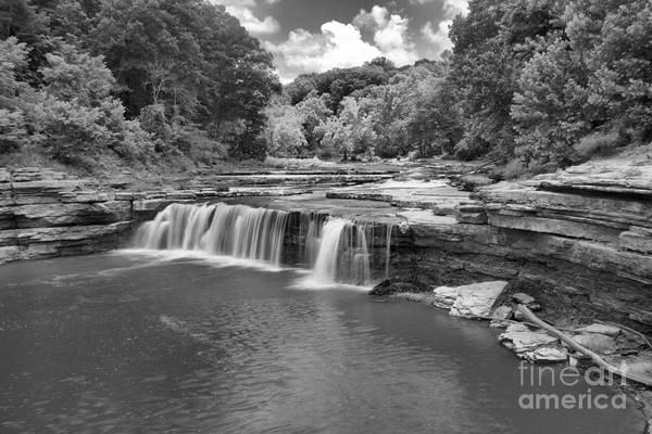 Photograph - Lover Cataract Falls Canyon Black And White by Adam Jewell