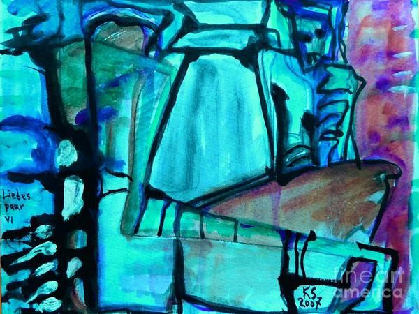 Painting - Lovers-10 by Katerina Stamatelos