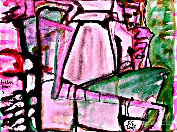 Painting - Lovers-4 by Katerina Stamatelos