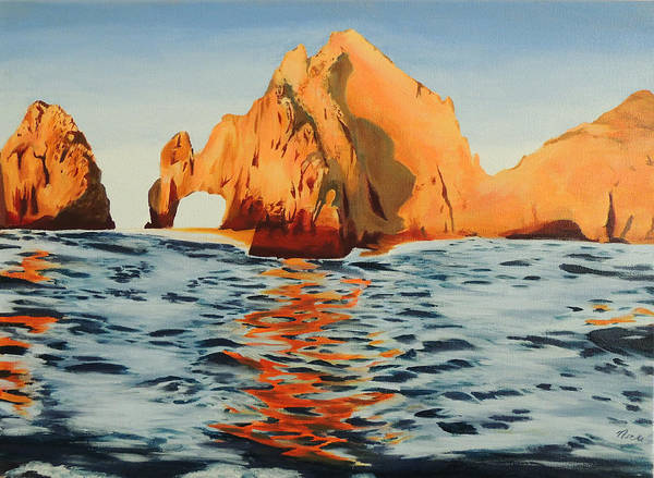 Cabo San Lucas Arch Wall Art - Painting - Lover's Arch by Nicki Yarwick