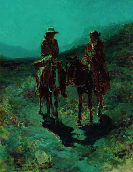 Red Onion Painting - Lovers Of The Desert by Frank Tenney Johnson