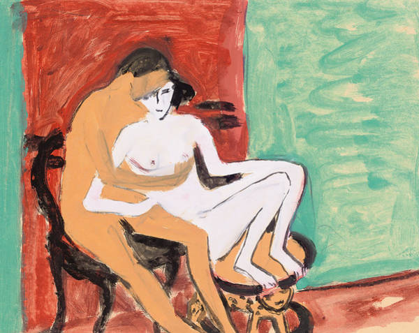 Making Love Wall Art - Painting - Lovers Or Young Couple by Ernst Ludwig Kirchner