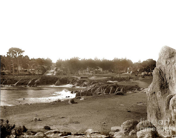 Photograph - Lovers Point And Beach Looking Up Forest Ave. Pacific Grove Circa 1887 by California Views Archives Mr Pat Hathaway Archives