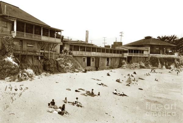 Photograph - Lovers Point Beach, Pacific Grove 1935 by California Views Archives Mr Pat Hathaway Archives