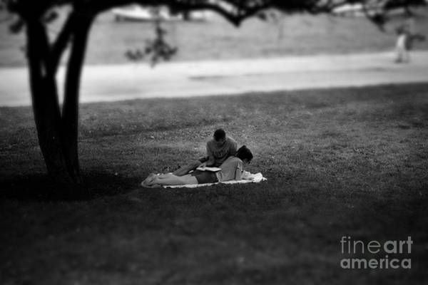 Photograph - Lovers Reading By The Lake by Frank J Casella