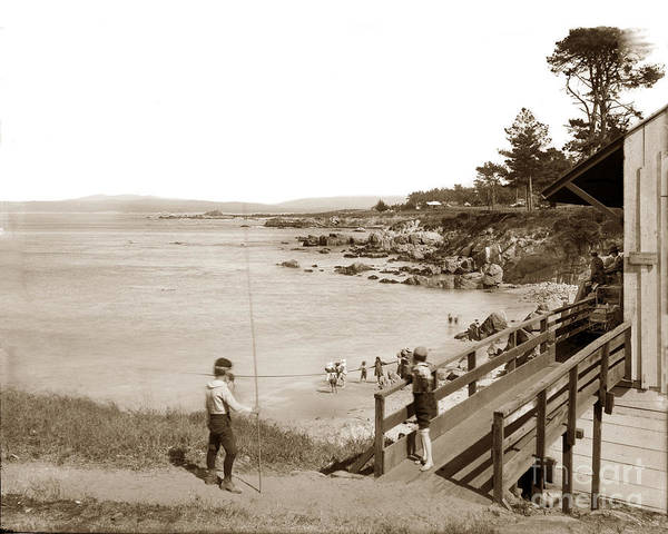 Photograph - Loves Point Beach Pacific Grove Circa 1895 by California Views Archives Mr Pat Hathaway Archives