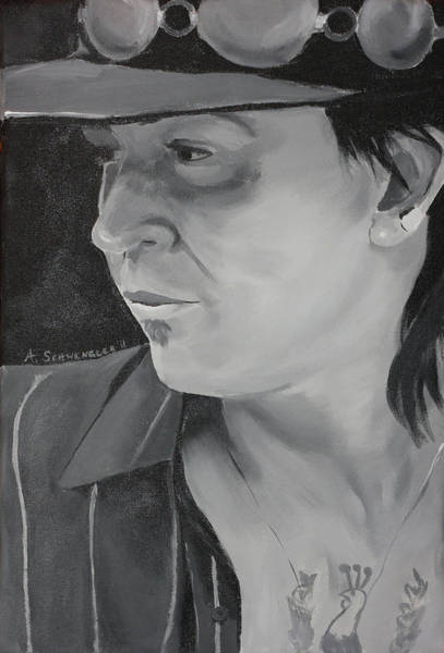 Tats Painting - Lovestruck by Angela Resendez