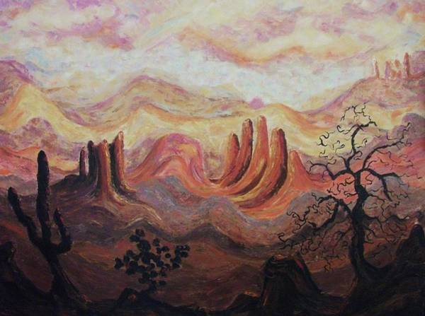 Leclair Painting - Loving Arizona by Suzanne  Marie Leclair