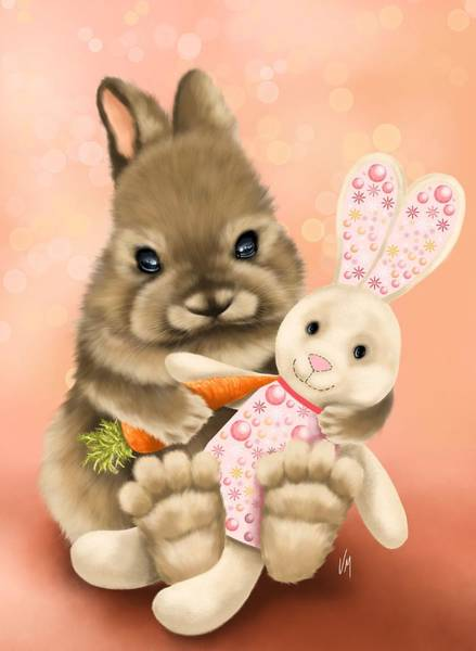 Carrot Painting - Loving Friend by Veronica Minozzi