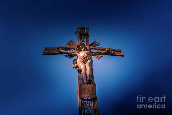 Wall Art - Photograph - Low Angle View Of Jesus Christ Statue by Bernard Jaubert