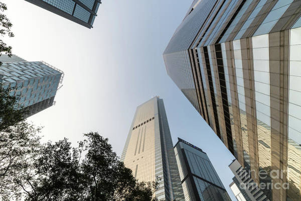 Photograph - Low Angle View Of Skyscrapers In Wan Chai Business District In H by Didier Marti