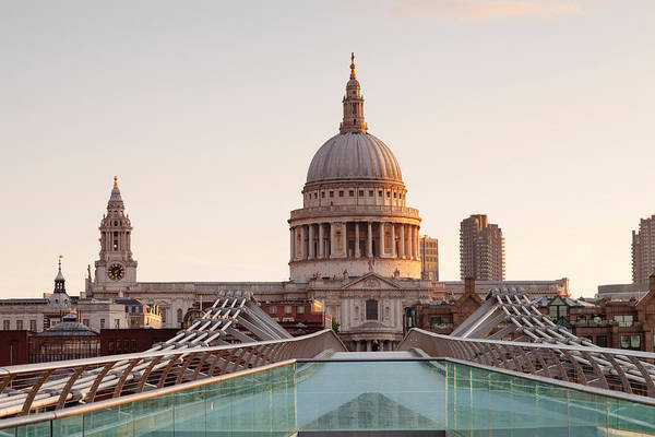 Wall Art - Photograph - Low Angle View Of St. Pauls Cathedral by Panoramic Images
