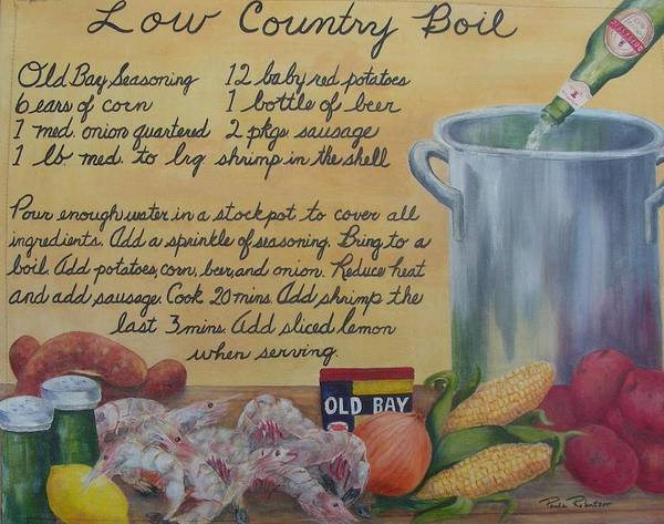 Painting - Low Country Boil by Paula Robertson