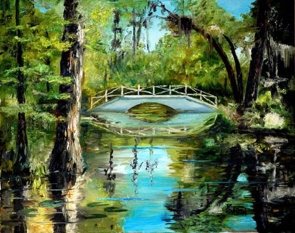 Painting - Low Country Bridge by Phil Burton