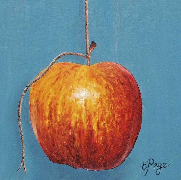 Painting - Low Hanging Apple by Emily Page