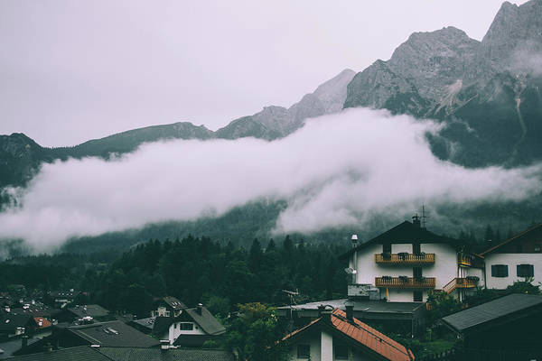 Wall Art - Photograph - Low Hanging Clouds In Village by Pati Photography