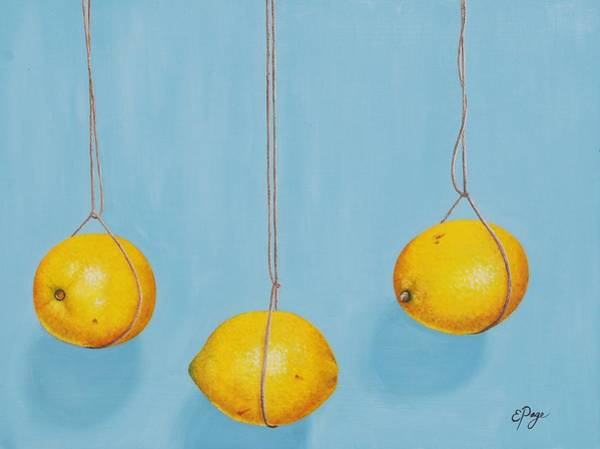 Painting - Low Hanging Lemons by Emily Page