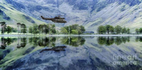 Puma Digital Art - Low Over The Lakes by J Biggadike