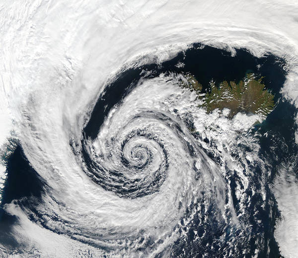 Photograph - Low Pressure System Over Iceland by Artistic Panda