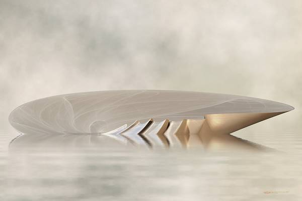 Digital Art - Low Tide - Seashell Rises by Wally Boggus