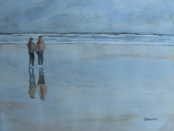 Wall Art - Painting - Low Tide At Agate Beach by Jenny Armitage