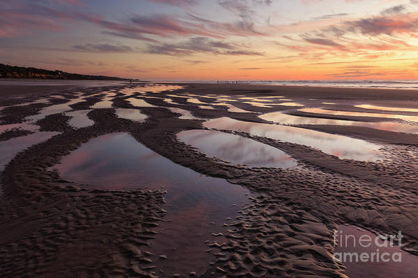 Low Tides Photograph - Low Tide At Sunset --horizontal by Masako Metz