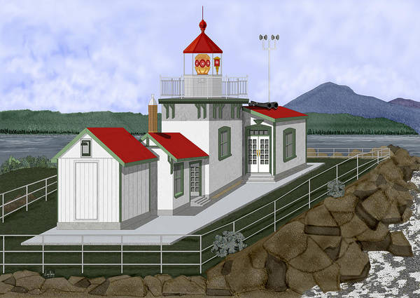 Wall Art - Painting - Low Tide At West Point Lighthouse In Seattle by Anne Norskog