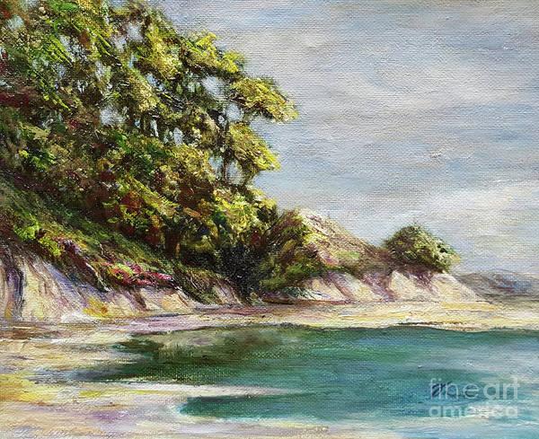 Sand Creek Painting - Low Tide Beach by Danuta Bennett
