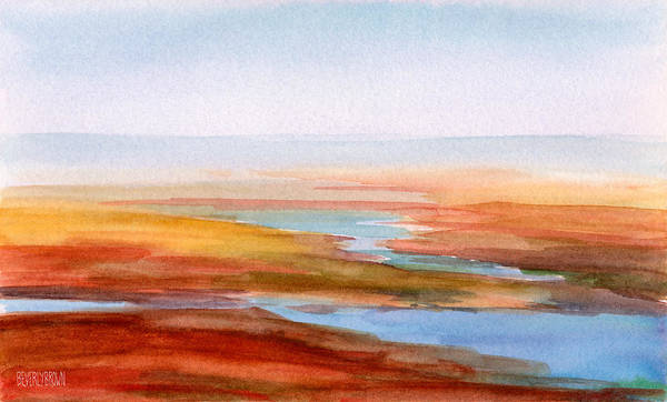 Wall Art - Painting - Low Tide Cape Cod by Beverly Brown
