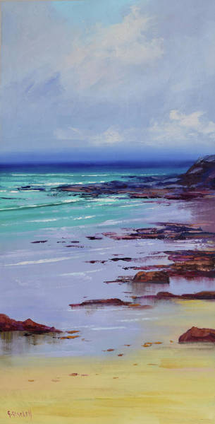 Coastal Scene Painting - Low Tide Colors by Graham Gercken