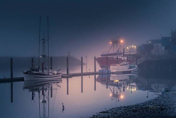 Photograph - Low Tide Fog by Bill Posner