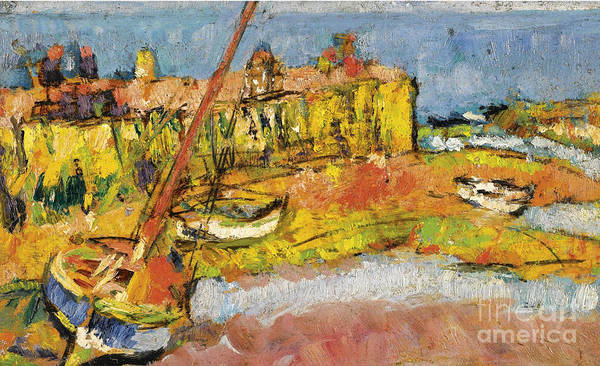 Fife Painting - Low Tide, Largo, Fife by Celestial Images