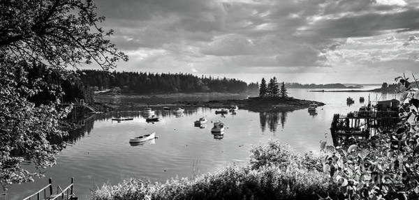 Photograph - Low Tide, Port Clyde, Maine #8507-bw by John Bald