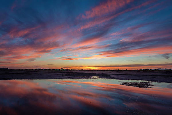 Photograph - Low Tide Reflection At Dusk by Pierre Leclerc Photography