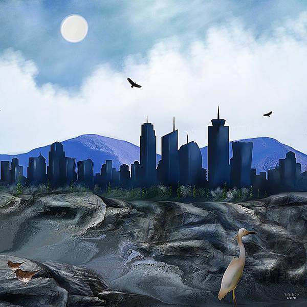 Digital Art - Low Tide Sea Side by Artful Oasis