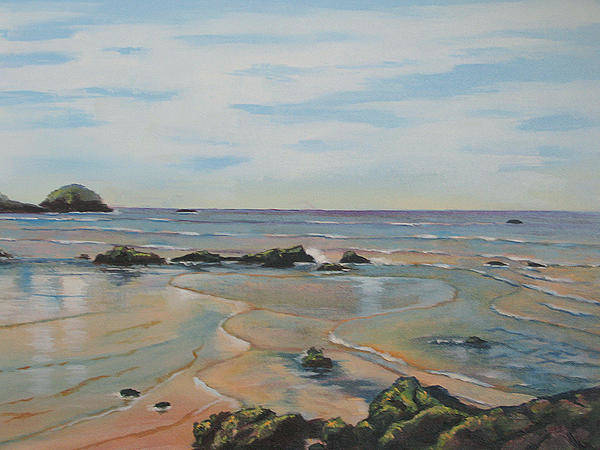 Painting - Low Tide-shelly Beach by Murray McLeod