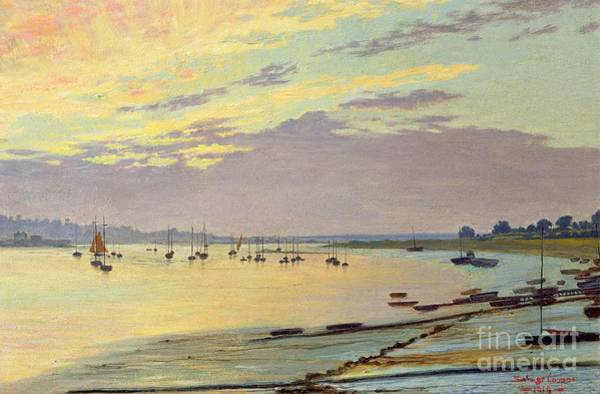 Riverbank Painting - Low Tide by W Savage Cooper