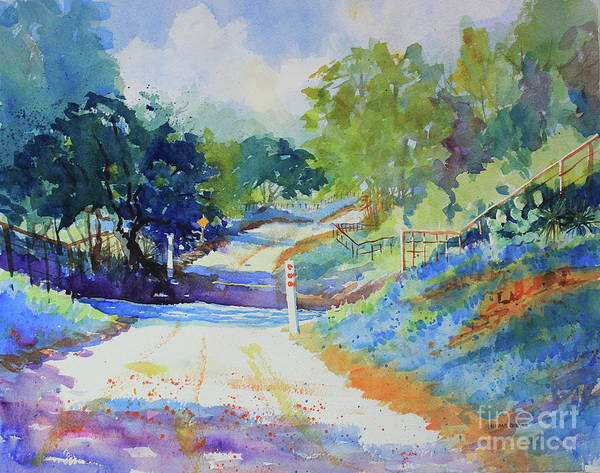 Central Texas Painting - Low Water Crossing by Marsha Reeves