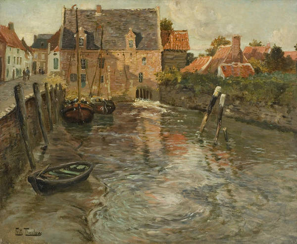 Painting - Low Water by Frits Thaulow