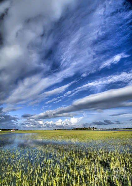 Lowcountry South Carolina Photograph - Lowcountry Flood Tide And Clouds by Dustin K Ryan