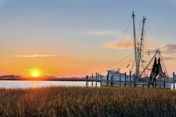 Rigging Photograph - Lowcountry Sunset by Drew Castelhano