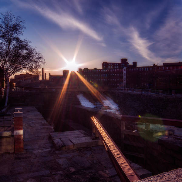 Photograph - Lowell Locks Sunset by Chris Bordeleau