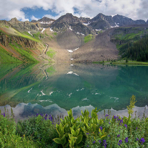Photograph - Lower Blue Lake 2 by Aaron Spong