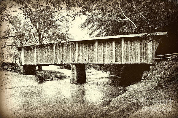 Walnut Mixed Media - Lower Bridge by Eric Liller