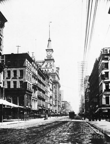 Photograph - Lower Broadway, C1890 by Granger