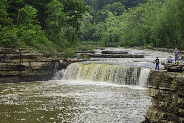 Brown County State Park Photograph - Lower Cataract Falls by Phyllis Taylor