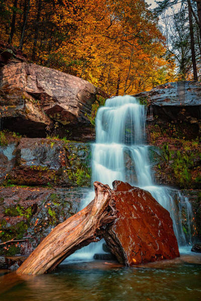 Catskills Photograph - Lower Falls At Kaaterskill by Rick Berk