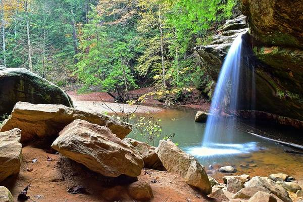 Hocking Hills Photograph - Lower Falls Hocking Hills by Frozen in Time Fine Art Photography