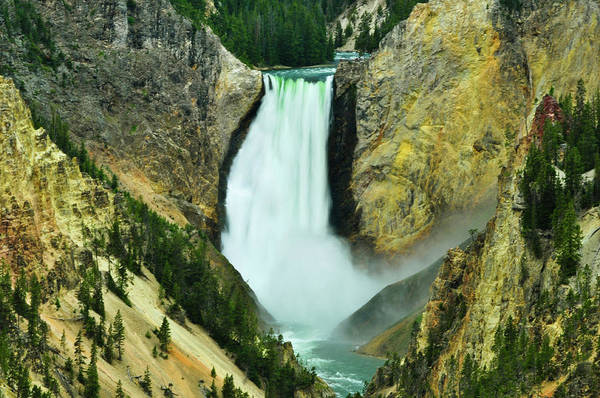 Art Print featuring the photograph Lower Falls No Border Or Caption by Greg Norrell